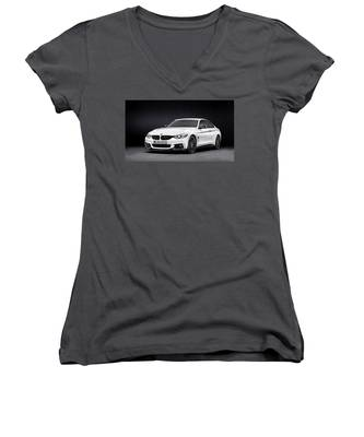 Automobile Parts Women's V-Neck T-Shirts