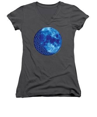 Celtic Blue Moon Women's V-Neck