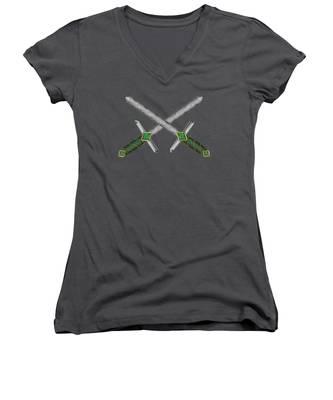 Celtic Daggers Women's V-Neck