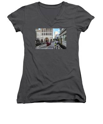 Cement Truck In The Itty-bitty-city Women's V-Neck