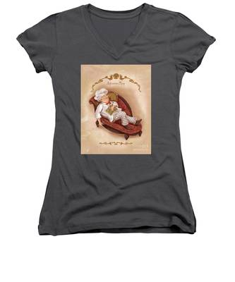 Chefs On A Break-afternoon Nap Women's V-Neck