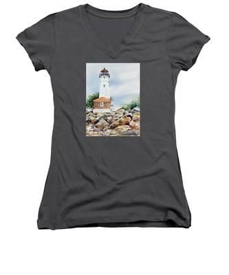 Crisp Lighthouse Women's V-Neck