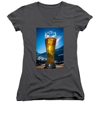 Edelweiss Beer In Kirchberg Austria Women's V-Neck