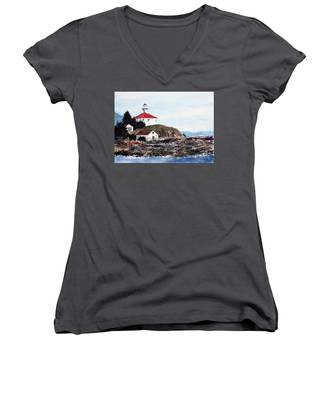 Eldred Rock Lighthouse Women's V-Neck