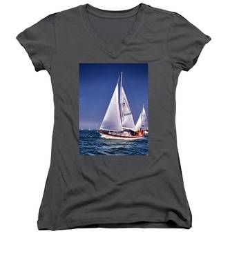 Full Sail Ahead Women's V-Neck