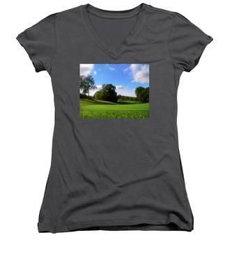 Golf Course Landscape Women's V-Neck