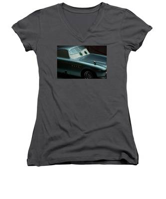 Antique Automobile Women's V-Neck T-Shirts