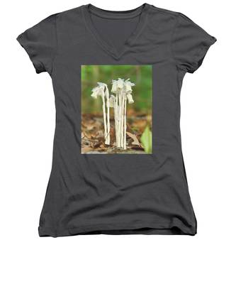 Indian Pipes Women's V-Neck