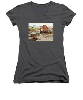 Inlet At Peggy's Cove Women's V-Neck