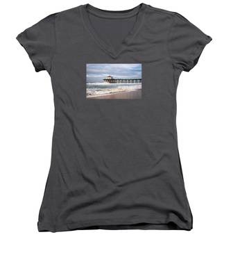 Manhattan Pier With Two Tankers Women's V-Neck