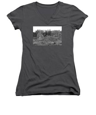 Mill At Clinton Among The Reeds Women's V-Neck