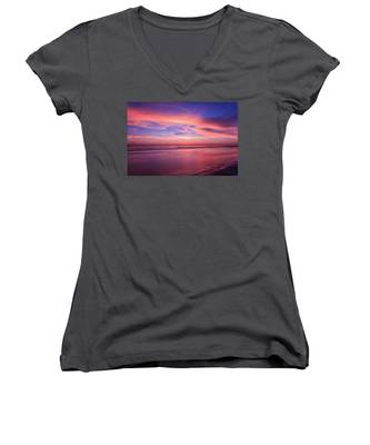 Pink Sky And Ocean Women's V-Neck