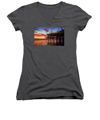 Ripples And Reflections Women's V-Neck