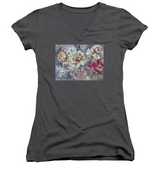 Roses From A Friend Women's V-Neck