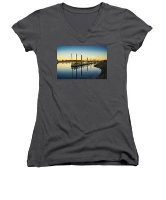 Serenity Sunset Kings Park New York Women's V-Neck