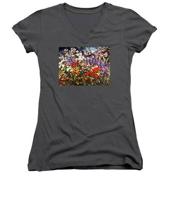 Summer Garden II Women's V-Neck