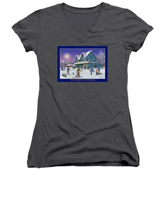 The Morning After At Campton New Hampshire Women's V-Neck