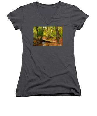 There Is Peace - Allaire State Park Women's V-Neck