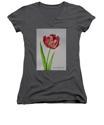 Watercolor Series No.  228 Women's V-Neck