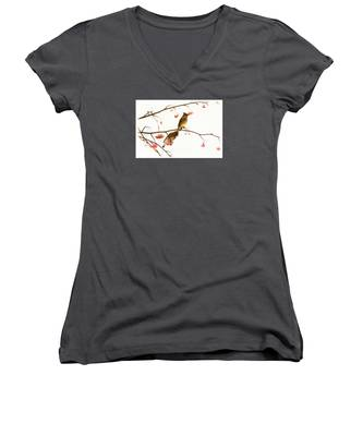 Waxwing Wonders Women's V-Neck
