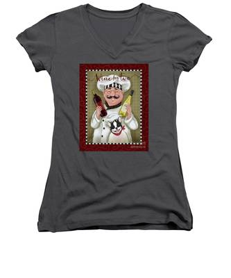 Wine Chef-wine For Two Women's V-Neck