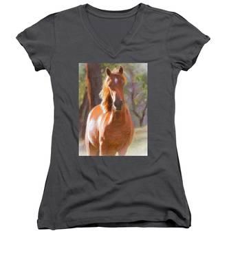 A Horse Women's V-Neck