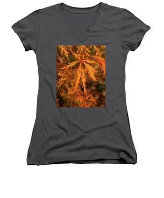 Autumn Leaf Women's V-Neck