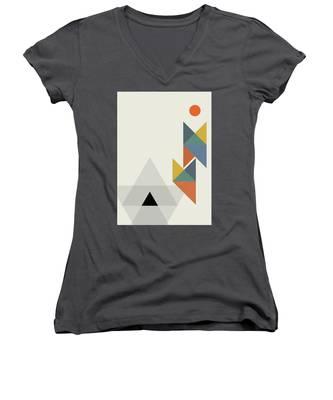 Geometric Painting 14 Women's V-Neck