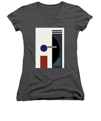 Geometric Painting 9  Women's V-Neck