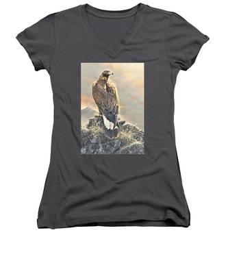 Highlander - Golden Eagle Women's V-Neck