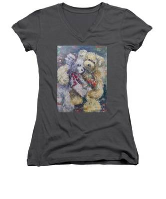 Teddy Bear Honeymooon Women's V-Neck
