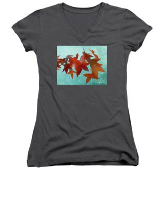 The Red Leaves Women's V-Neck
