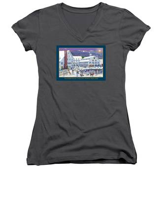 Waterville Valley At Wintertime Women's V-Neck