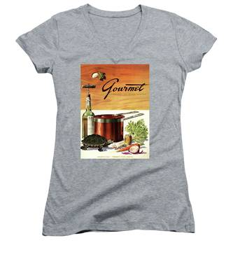 A Gourmet Cover Of Turtle Soup Ingredients Women's V-Neck