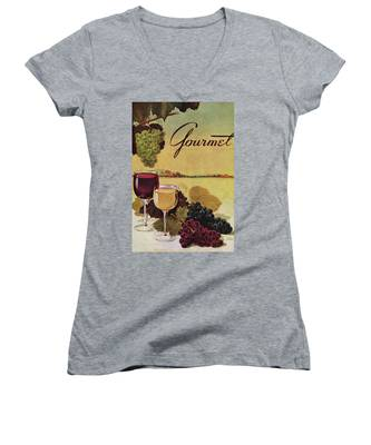 A Gourmet Cover Of Wine Women's V-Neck