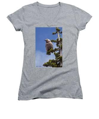Clark's Nutcracker In A Fir Tree Women's V-Neck