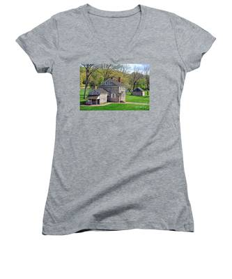 George Washington Headquarters At Valley Forge Women's V-Neck