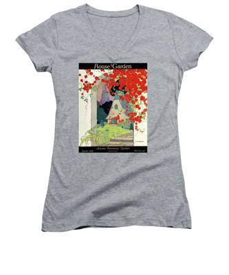 House And Garden Autumn Decorating Number Women's V-Neck