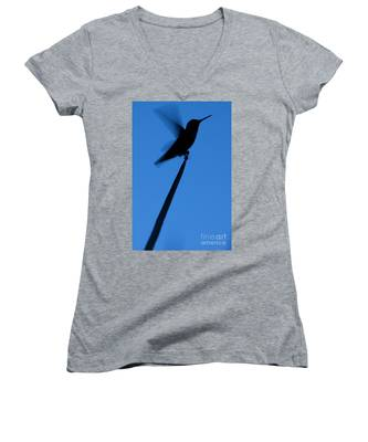 Hummingbird Silhouette Women's V-Neck