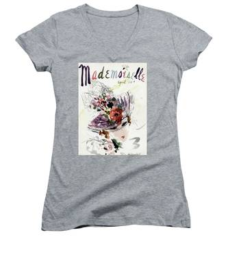 Mademoiselle Cover Featuring An Illustration Women's V-Neck