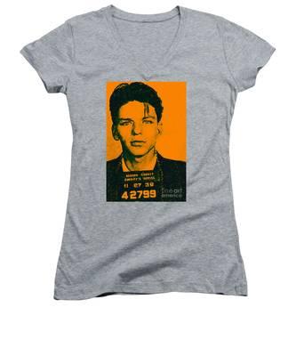 Mugshot Frank Sinatra V1 Women's V-Neck