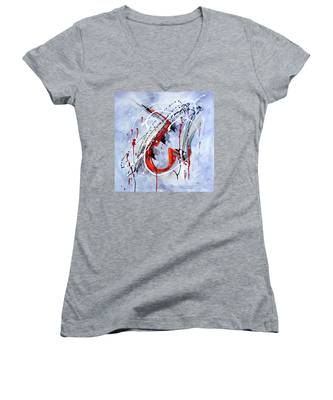 Musical Abstract 005 Women's V-Neck