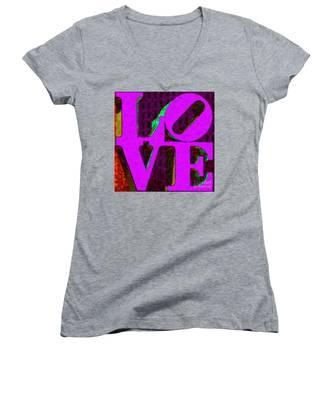 Philadelphia Love - Painterly V2 Women's V-Neck