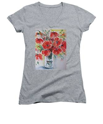 Poppies Iv Women's V-Neck