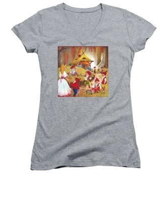 Snow White And The Seven Dwarfs Women's V-Neck