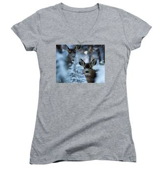 Somebody To Watch Over Me Women's V-Neck