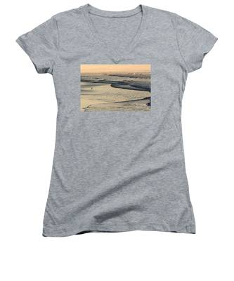 Sunrise On The Ocean Women's V-Neck