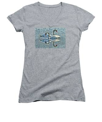 Swan Love Women's V-Neck