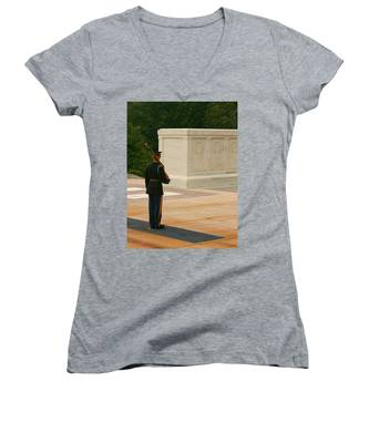Tomb Of The Unknown Soldier Women's V-Neck
