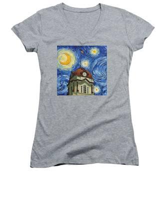 Van Gogh Courthouse Women's V-Neck